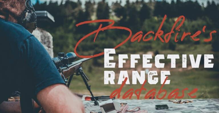 Maximum Effective Range Chart for All Rifle Cartridges